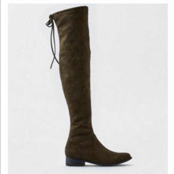 363cea83084 American Eagle Over the Knee Boot (Olive size 8)